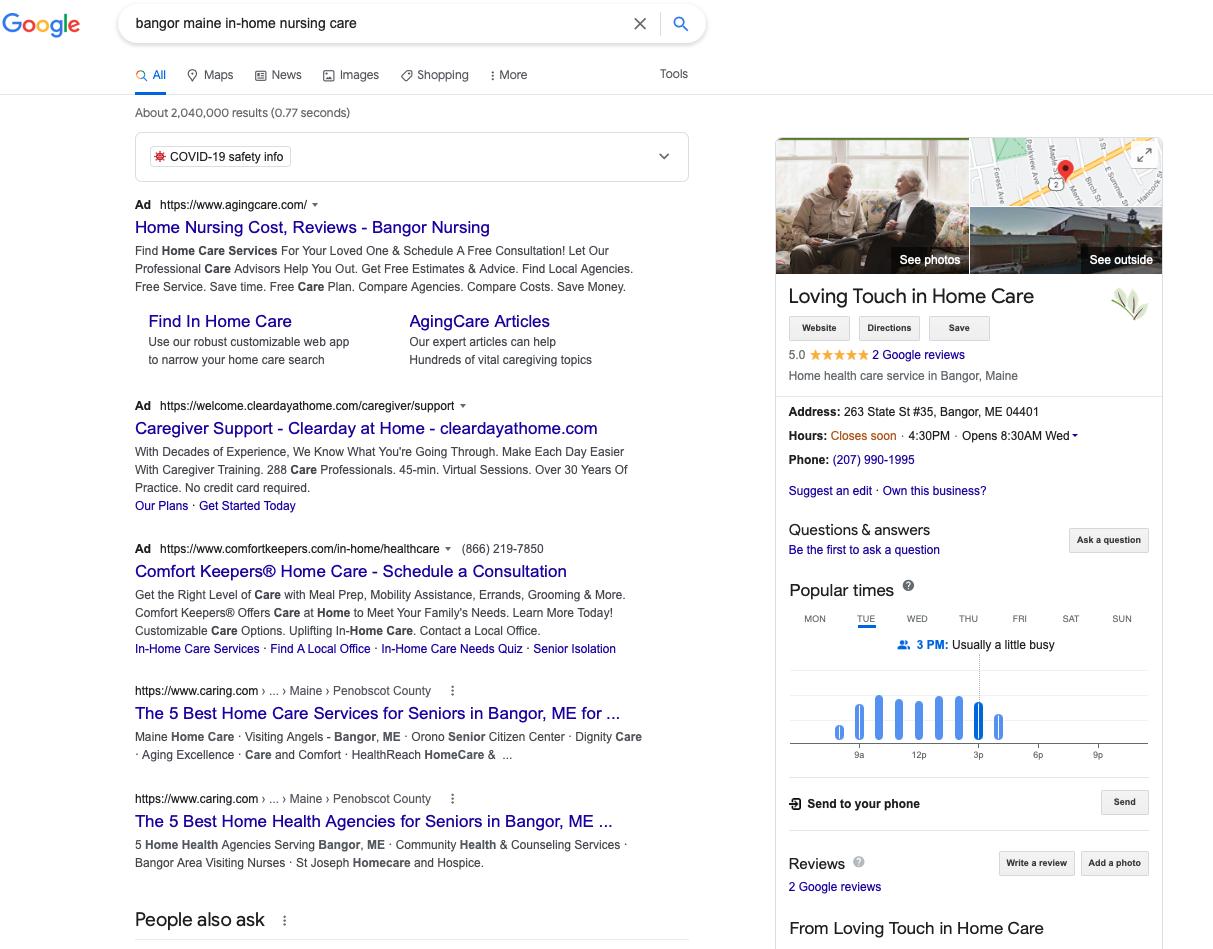 Google My Business Senior Service 3